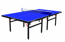 18mm MDF blue top indoor foldable ping-pong table tennis table