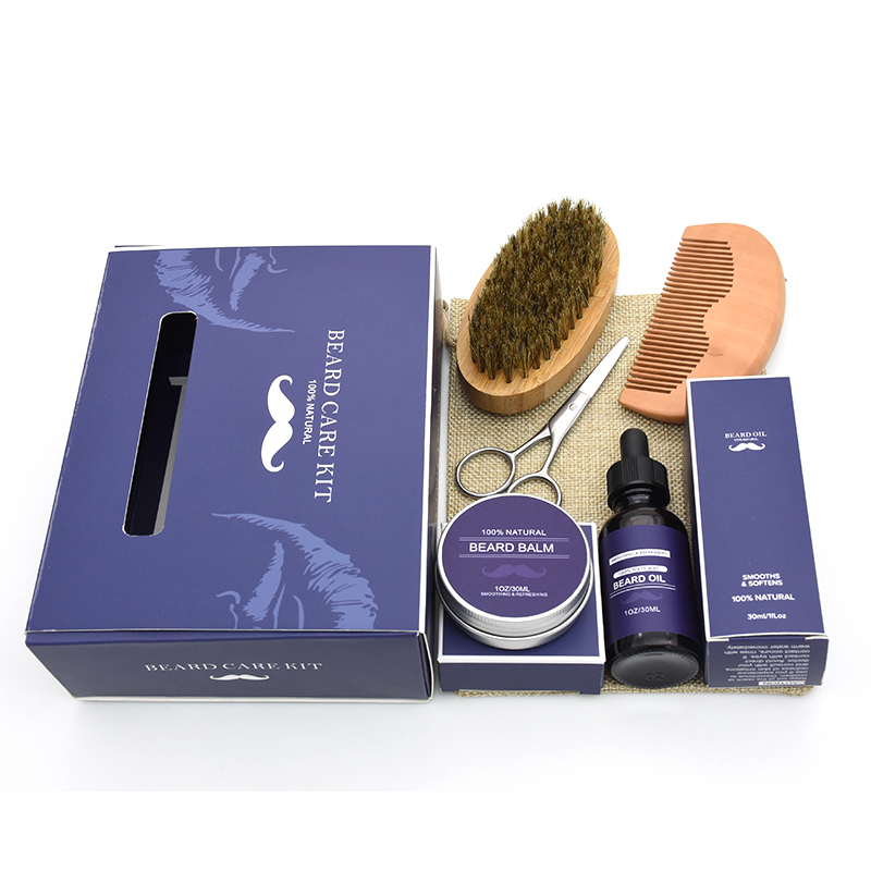 Customized Private Label Beard Care Gift Beard Grooming Kit for Valentines Gifts