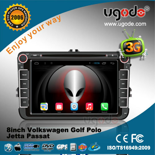 ugode 8 inch Andorid Car DVD player with GPS for Volkswagen with 3G /Wifi internet