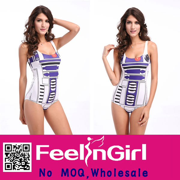 Newest Style Sexy Women's Galaxy Girl And Animals Sex Swimsuit