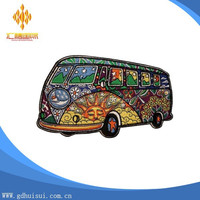 Embroidery Flower Bus Cool Pattern Embroidery Patches for Jackets