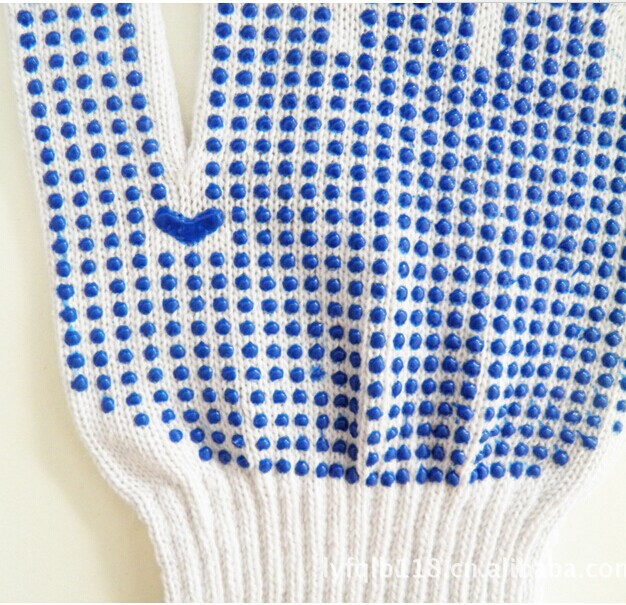 10G,7G Polka PVC dotted Industrial gloves