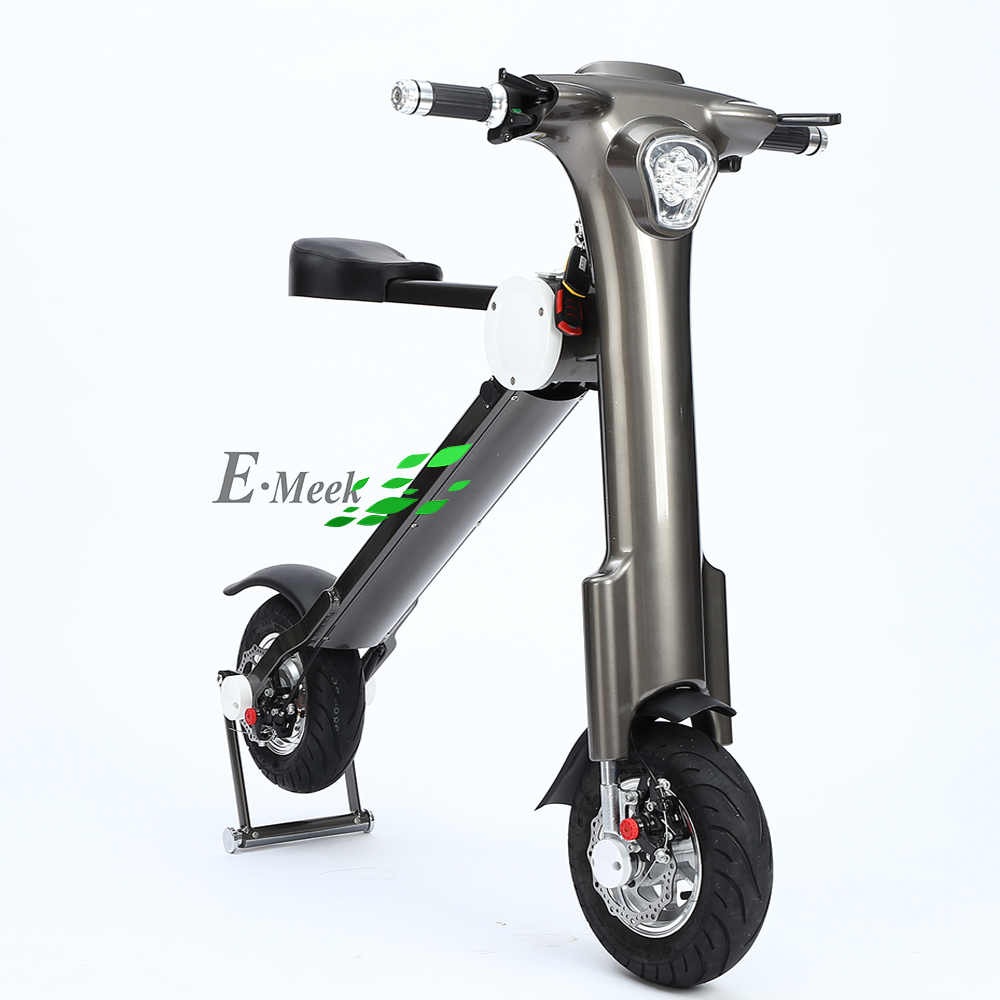 Grey color 48V 500W 10AH powerful battery folding e scooter