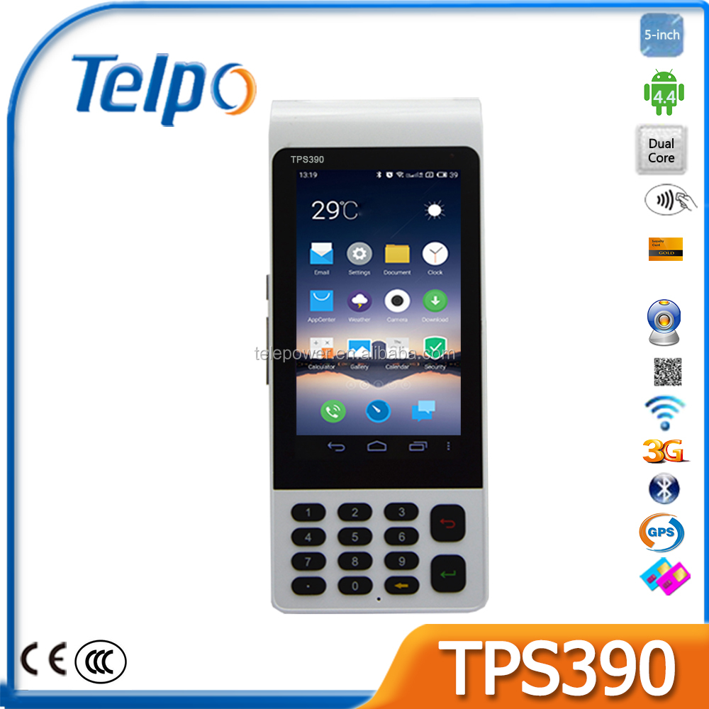 Telepower TPS390 3G Handheld Buletooth POS for <strong>Payment</strong>/Lottery/Bus Ticket
