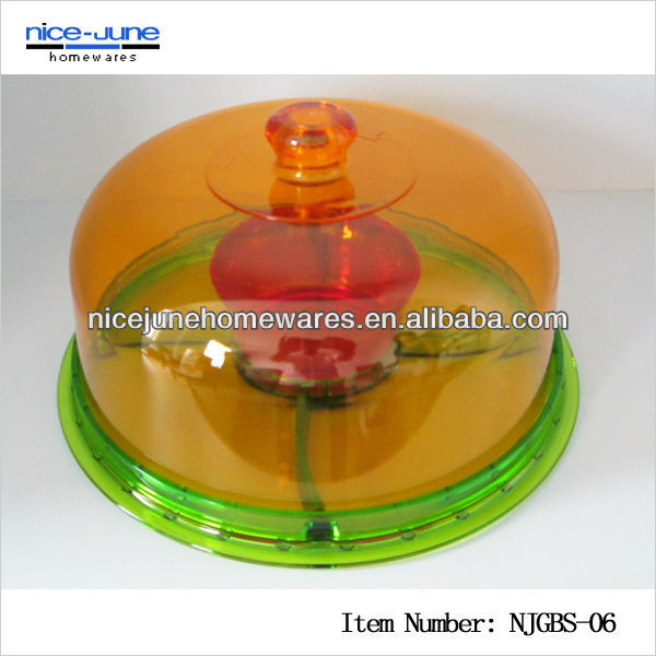 Colorful Cake Stand with Acrylic Lid for wedding