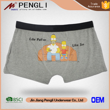Hot sale Fashion cartoon printed big boys underwear men