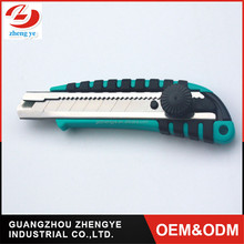 hot sell 18mm china sliding retractable camping steel Ratchet-lock utility cutter knife
