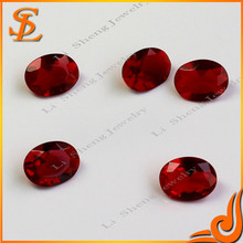 loose charming garnet oval synthetic glass gems