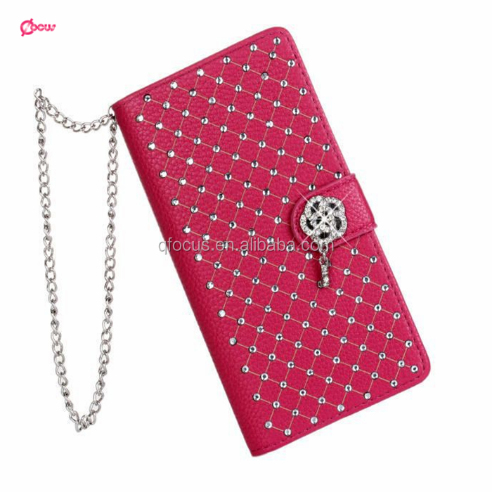 New For iPhone 6 Luxury Full Diamonds Cover Leather Wallet Case With Card Slot Shockproof Case For iPhone 4.7'' 5.5''