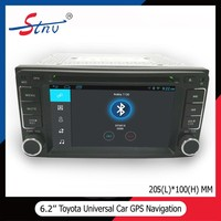 Android 6.2 Inch GPS Car DVD With Navigation/Radio/SWC For Toyota