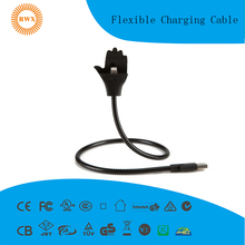Flexible Charging Cable for type c ,mirco usb,and iphone stand up phone charging cable