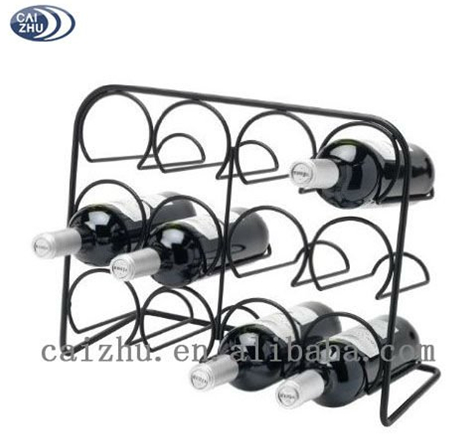 2016 China supplier Stainless steel single stackable bottle wine rack for wholesale