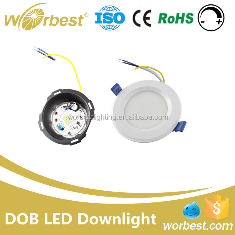 DOB 9W Hot Sale Led Down Light High Quality CE Warm White Dimmable 9 watt led downlight