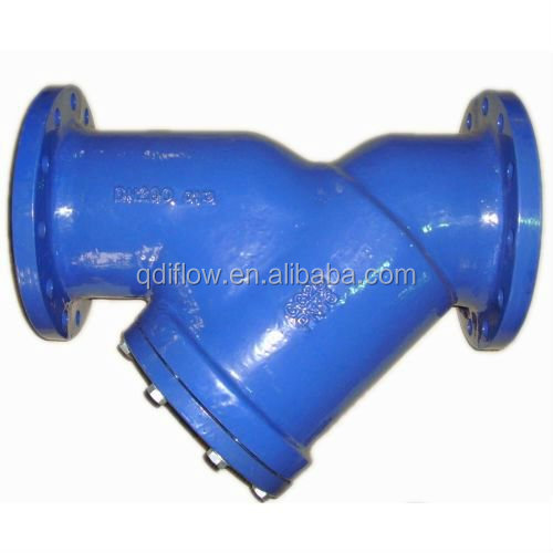 PN16 Cast Iron DIN Y Type Strainer with Flange End