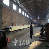 Color Zhongtuo stone coated steel roofing making machine, steel stone roof tile machine