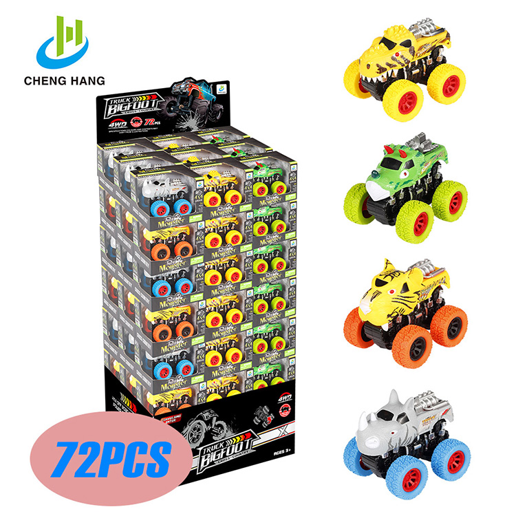 2019 toys for boys kids game toy car 4x4 hotwheels Off Road <strong>Friction</strong> plastic Dinosaur car Animal Toys monster Truck jouet enfant