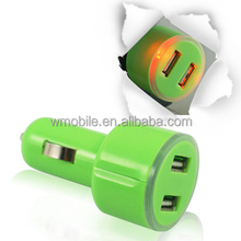 single colorful USB Car Charger Adapter For iPhone 6 for iPad Mini for Galaxy S3 S4 i9500 all Cell Phone