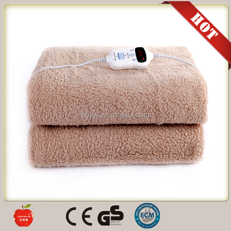 2016 new products automatic power off electric heating blanket /multifunctional casual electric blanket queen from china factory