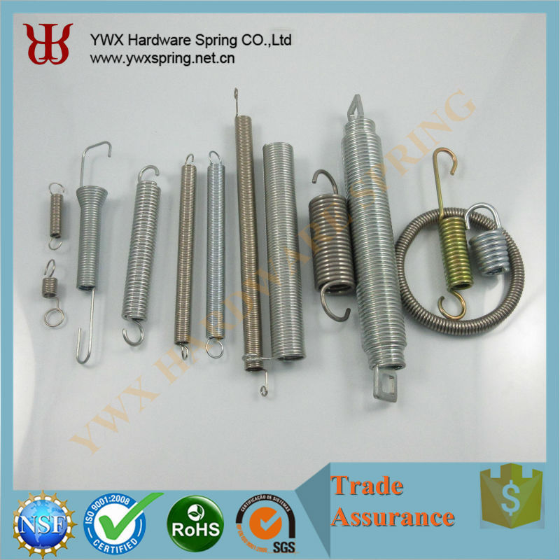 OEM ROHS / ISO 9001 steel galvanized auto expansion spring