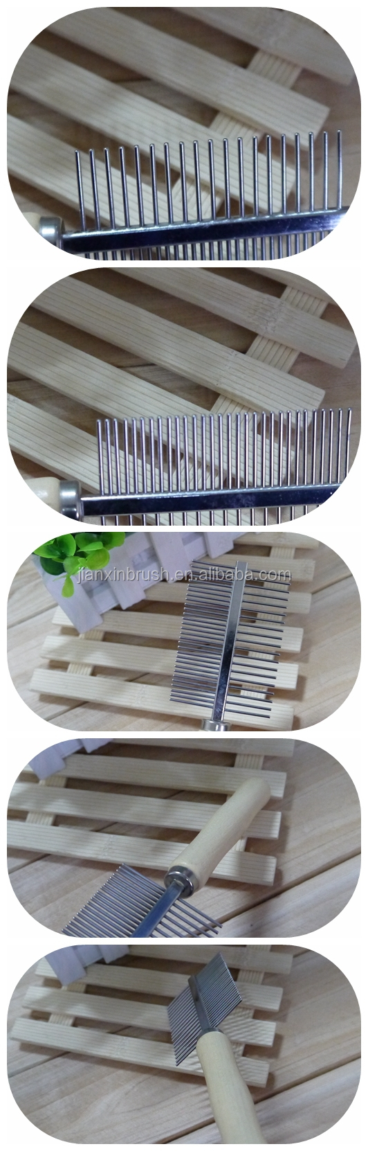 eco cleaning products wooden handle steel teeth comb