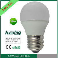 Low price High lumen 5.5W 450lm E27 G45 LED Globe Bulb Lamp replace halogen Bulb
