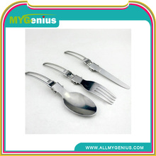 assemable fork and spoon for picnic ,W110, stainless steel fork and spoon set