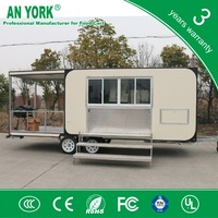 FV-68 salad food truck gas tricycle food truck petrol food truck with 3 wheels