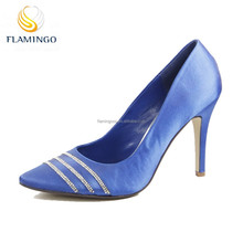 FLAMINGO 2015 LATEST ODM OEM hot sale simply office lady pump shoes fashion high quality suede dressing high heel lady shoes