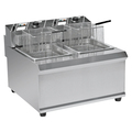 BN-902 Stainless Steel Counter Top Electric Double Basket Deep Fryer