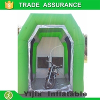 Motorcycle inflatable portable spray booth