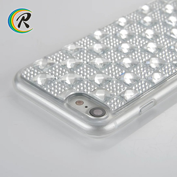 Good Price Gem Diamond tpu cover shell for iPhone7 cover case
