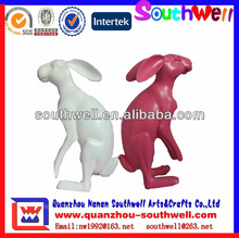 garden sculpture rabbit statues and resin animal figurine for sale