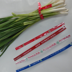 logo printed metallic PET twist ties for packing vegetables/foods