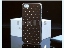 Bling Crystal Diamond Aluminum Metal Hard Back Case Phone Cover Skin for iphone 5 5S