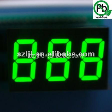 4 digits 0.4 inch Black face white segment custom TN LCD display screen