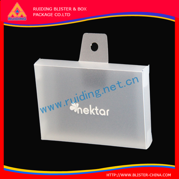 Transparency display Soft PP plastic packaging box for glass case
