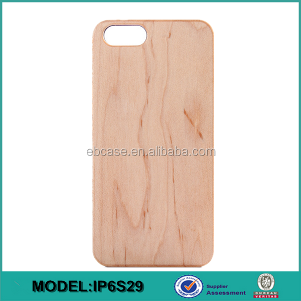 2016 Hot sell wood mobile phone case for iphone 6,for iphone 6 wood case accept laser carving