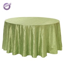 TQ09062 wholesale chameleon pintuck wedding designs taffeta polyester table cloth