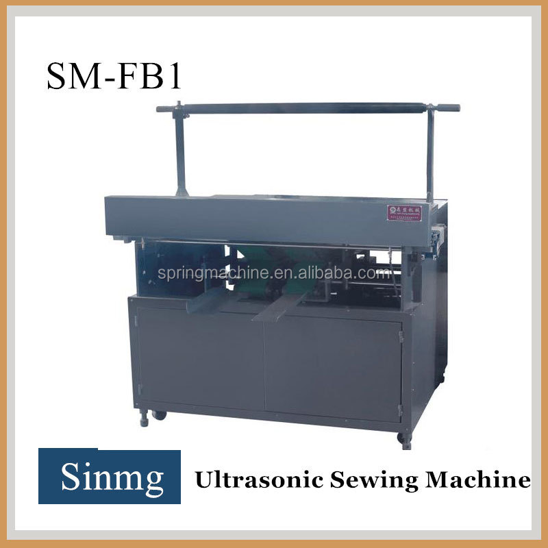 Ultrasonic sewing machine for nonwovens