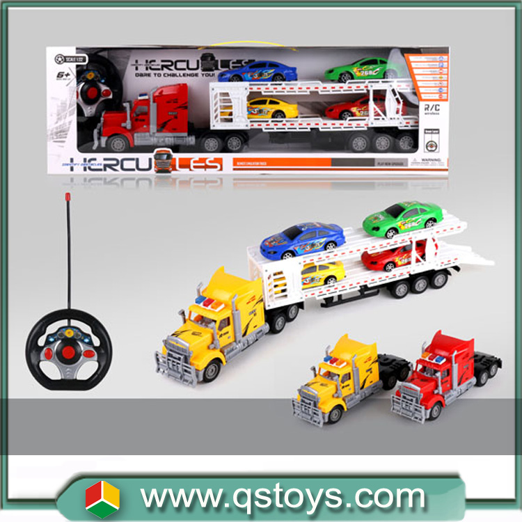 High quality remote control plastic toys rc trailer truck with lights for sale