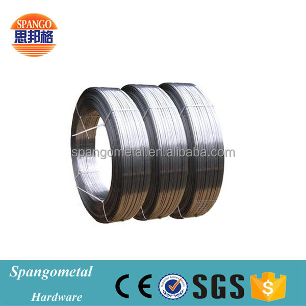 High tensile spring galvanized flat steel wire