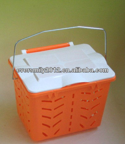 Plastic Storage Basket With Cover