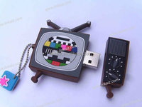 Custom promotion TV shape 8GB PVC USB flash drive