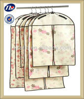 Custom Design Foldable Recycle PP Fabric Mens Non Woven Garment Bag for Suit Cover