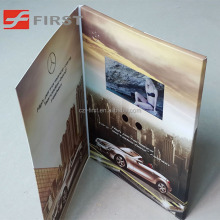 3.5inch LCD Advertising Video Greeting Card In Printed