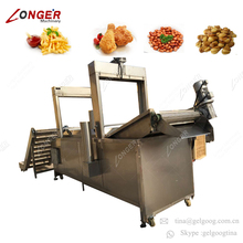 Continuous Convenyer Potato French Fries Fryer Fish Chicken Production Line Philippine Banana Chips Machine For Sale