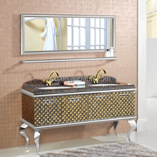 free standing Stainless Steel bathroom antique cabinet wash basin