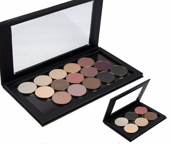 Single steel pan magnetic handmade makeup cardboard eyeshadow palette