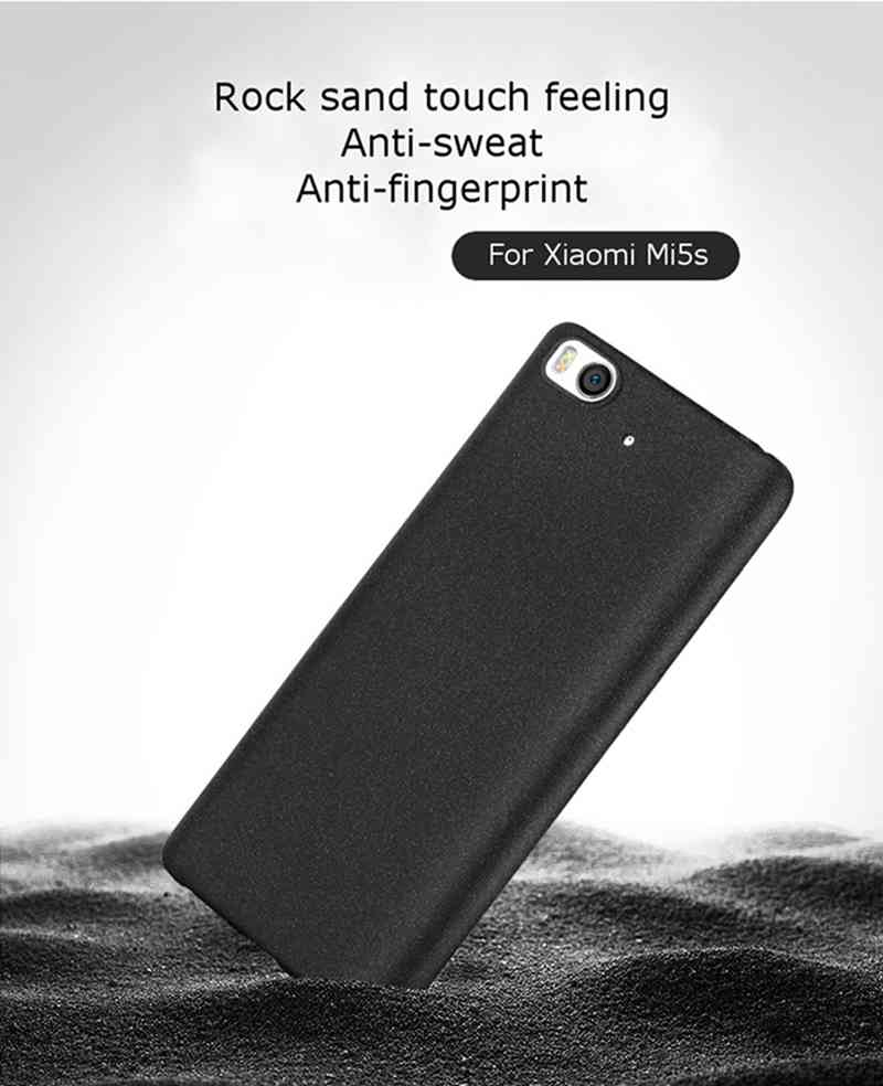 NEW Ultra-slim Sand Frosted Matte Back TPU Cellphone Back Case Cover Protective shell For Xiaomi Mi 5s Mi5s Fall Resistant