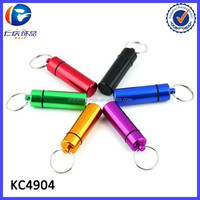 Promotional Outdoor Survival Emergency Waterproof Pill Box Keychain